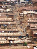 Slum Kibera v Keni