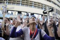 Protest Koptů v Káhiře