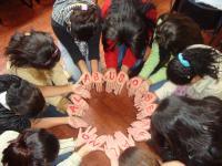 Členky skupiny pro ženy, které se setkaly se sexuálním násilí, Bogota (Kolumbie).
