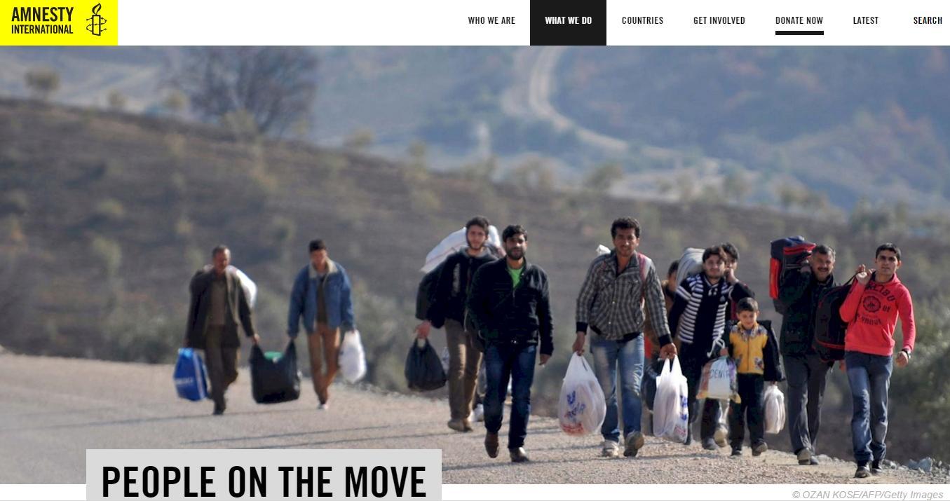 Amnesty International o migraci, uprchlících a IDPs