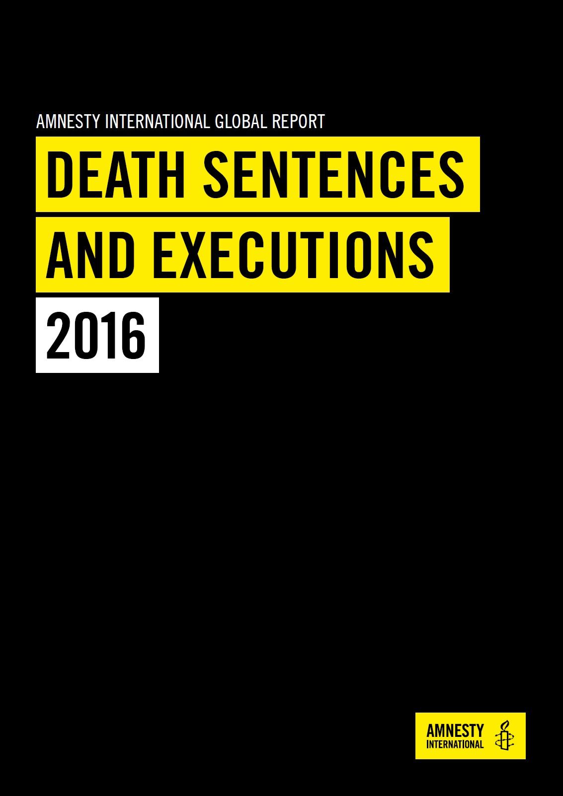 Zpráva o trestu smrti v roce 2016