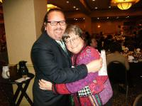 Carmelo Campos-Cruz with Sister Helen Prejean, author of Death Man Walking, during the annual conference of the National Coalition to Abolish the Death Penalty in Harrisburg, Pennsylvania, US, January 2009