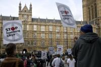 Libyjec, který se zúčastnil protestu v Londýně, by mohl dostat doživotní trest