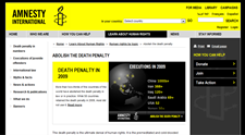 WEB AMNESTY INTERNATIONAL O TRESTU SMRTI