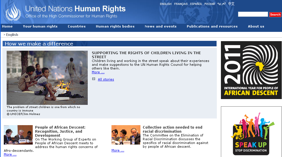 The Office of the United Nations High Commissioner for Human Rights (OHCHR)