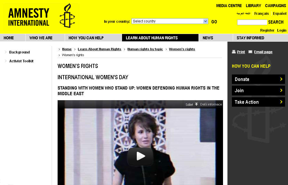 Amnesty International – Women's Rights